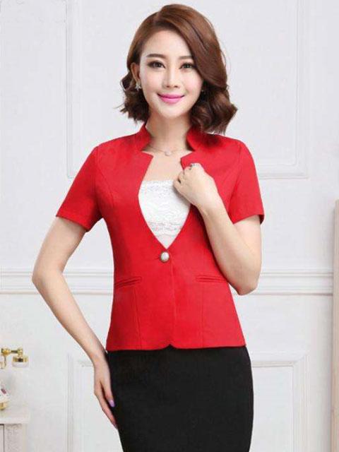 红色时尚女西定做